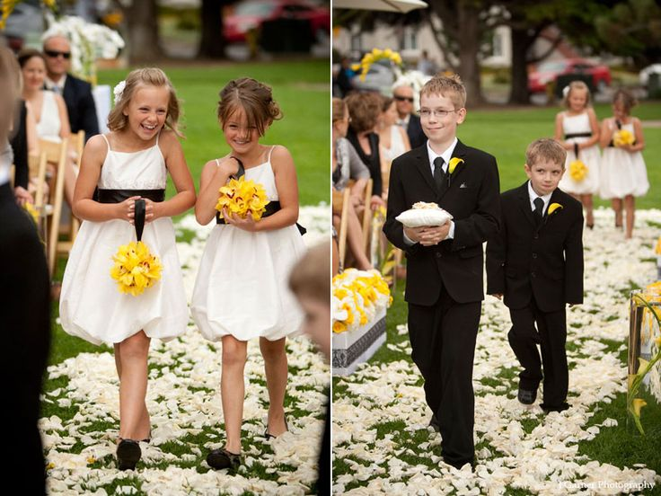 A Modern White Wedding Ceremony: 58 Best Ideas About Black, White & Yellow Wedding On