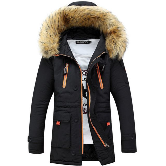 Promotion price Winter Jacket Men Fur Collar Coat Mens Winter Jackets And Coats Men Winter Jacket Chaqueta Hombre Solid Parkas Hombre Invierno just only $39.00 - 45.50 with free shipping worldwide  #jacketscoatsformen Plese click on picture to see our special price for you