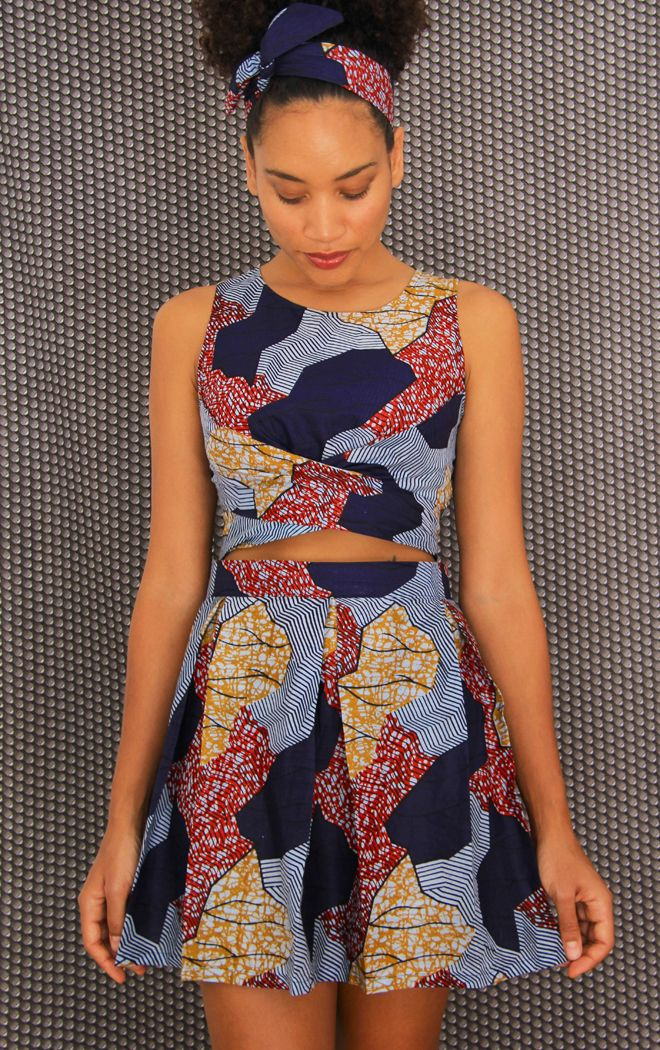 El Felted Fox: AFRICANA DIY falda plisada