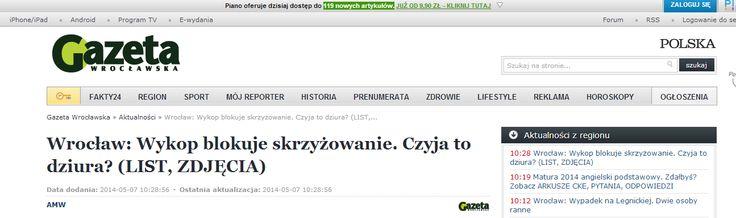 Wrocław: Wykop blokuje skrzyżowanie. Czyja to dziura? (LIST, ZDJĘCIA) - Gazetawroclawska.pl