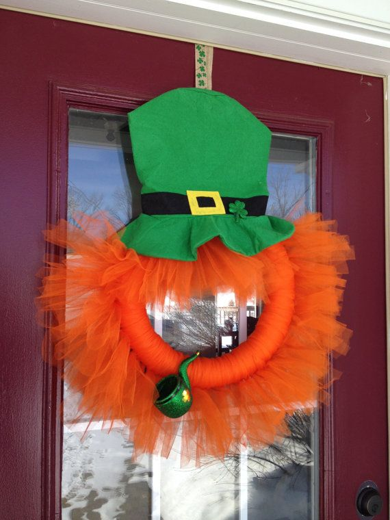 St+Patrick's+Day+Tulle+Wreath++Leprechaun+by+CraftyCreationsLJR,+$30.00