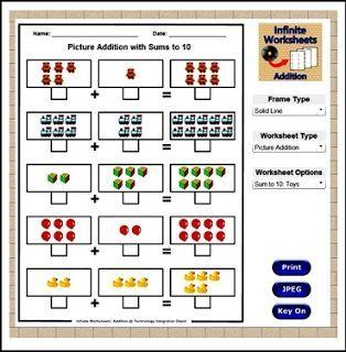 Free math worksheet generator for teachers