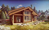 Проект деревянного дома из клееного бруса Эльбрус, площадь 275 м2, 2 этажа, 4 спальни, фото 3