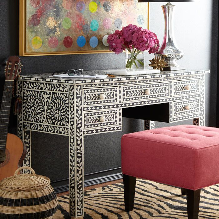 Mallory Desk - love this for an eclectic office space!