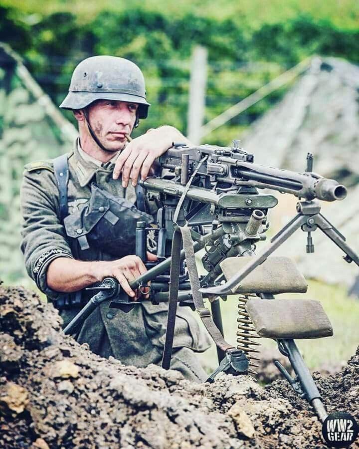 Wermacht machine gunner