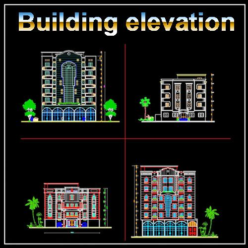 Best 25 building elevation ideas only on pinterest for Bloc autocad fenetre