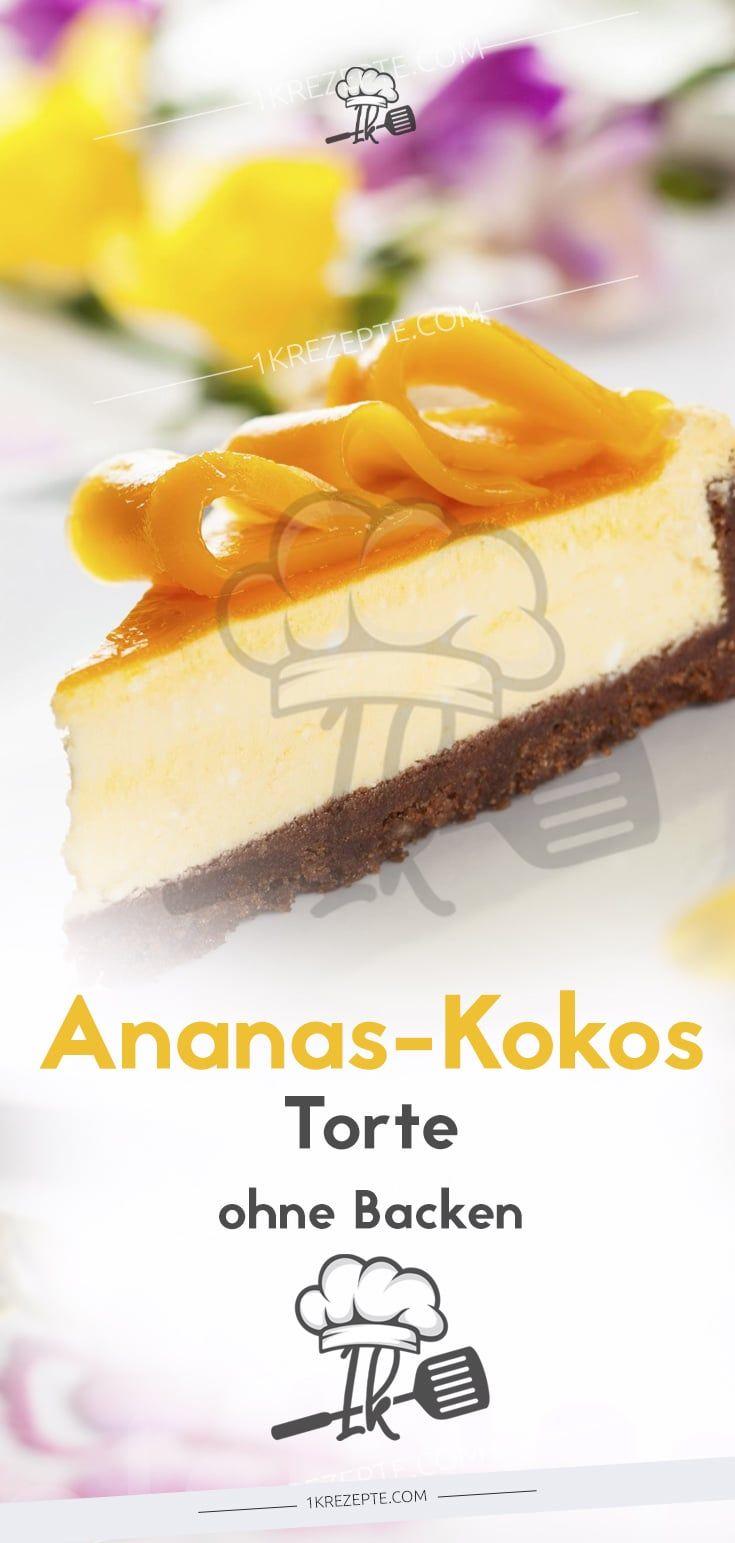 Ananas Kokos Torte Ohne Backen 1k Rezepte Torte Ohne Backen Ananas Kokos Und Kuchen Ohne Backen