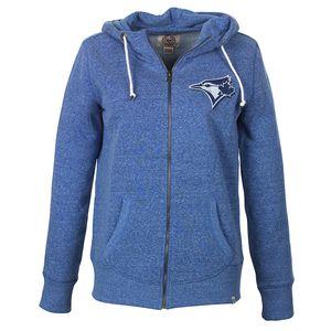 Toronto Blue Jays Women's Frontside Full Zip Hoody by '47 Brand | Jays Shop