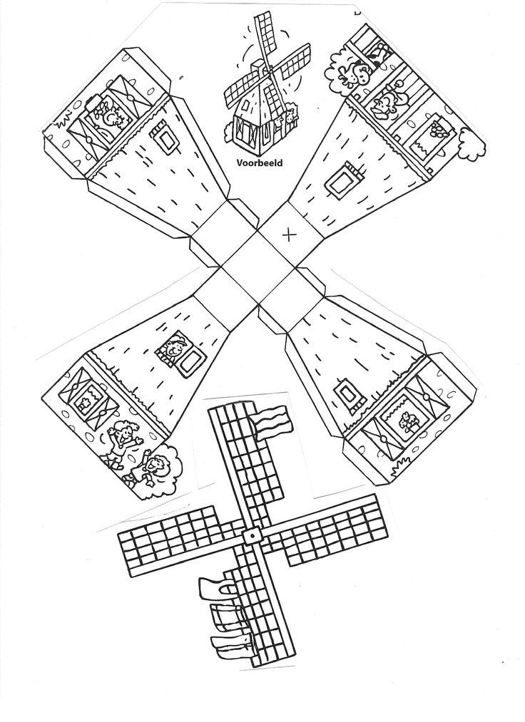 Knutselen 3d: bouwplaat molen