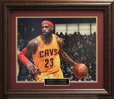 LeBron James Cleveland Cavaliers 16x20 Photo Framed.