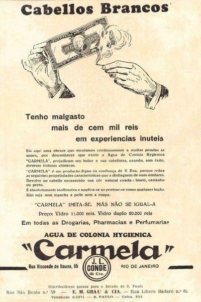 Iba Mendes: Anúncios antigos de Tinturas