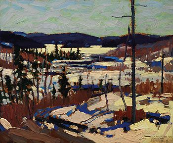 Early Spring, Canoe Lake by Tom Thomson of The Group of Seven. Unfortunately, none of us will be hanging this one on the wall. The Group of Seven's works generally sell for several million dollars.