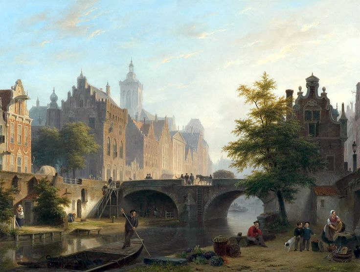 "hove bartholomeus the oude gracht in utrecht (from <a href=""http://www.oldpainters.org/picture.php?/27526/category/12029""></a>)"