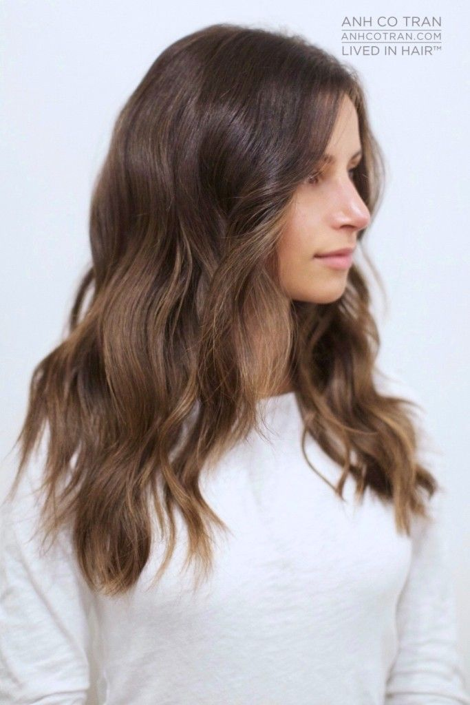 Bildresultat för hair chest length brunette
