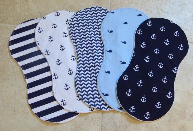 Baby Boy Burp Cloths - Nautical Anchors & Whales, Chevron and Striped Burp Cloths with White Dimple Dot Minky - Baby Boy Burp Cloth Set by ChristyRaynDesigns on Etsy