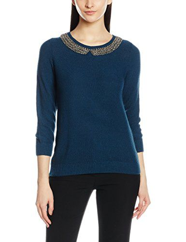 Longues Femme Col Rond Pull Cache Manches Bleublue 8Nmn0w