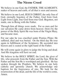 The Nicene Creed I still like this version better