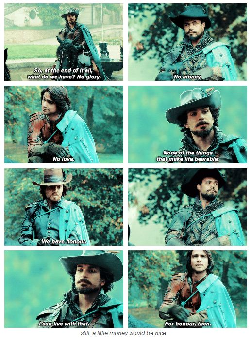 """The Musketeers - 1x10 - Musketeers Don't Die Easily, """"Still, a little money would be nice."""""""