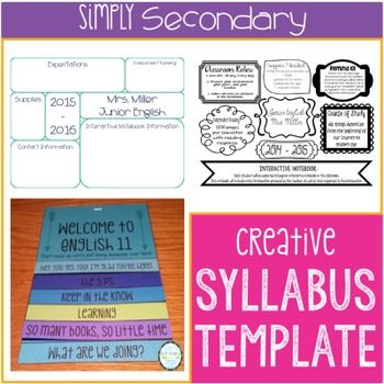 Top 25+ Best Syllabus Template Ideas On Pinterest | Class Syllabus