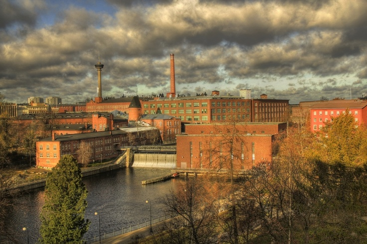 An old industrial site, old mills - Tammerkoski Tampere Finland