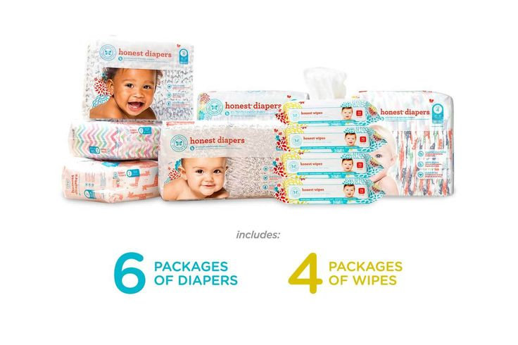 $80/monthly shipment of 6 jumbo bags of our Honest Diapers or Training Pants — eco-friendly*, ultra absorbent & free of lotions, fragrances & latex. Also included are 4 packages of our Honest Wipes — plant-based, soothing, super thick, ultra versatile.