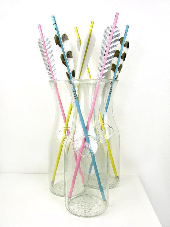 Pastel Arrows in Soft Pink and Light Blue with by FletcherandFox,