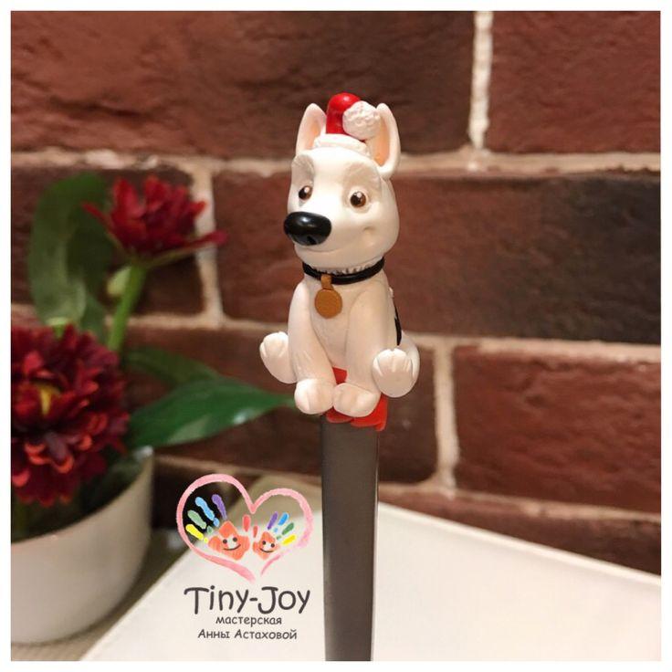 Polymer clay, BOLT, miniature , fimo, cernit, dog,puppy