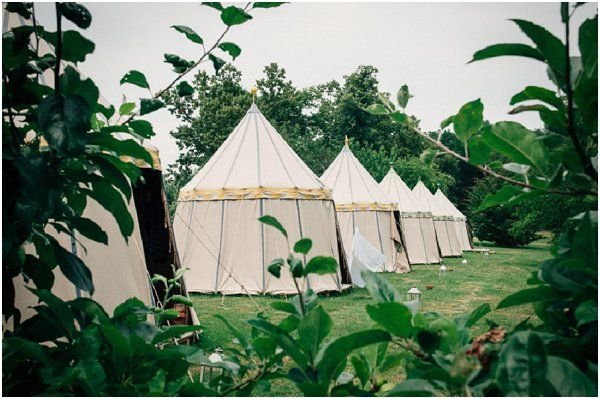 Glamping France | Image by Susie Lawrence, read more http://www.frenchweddingstyle.com/chateau-de-la-bourlie/