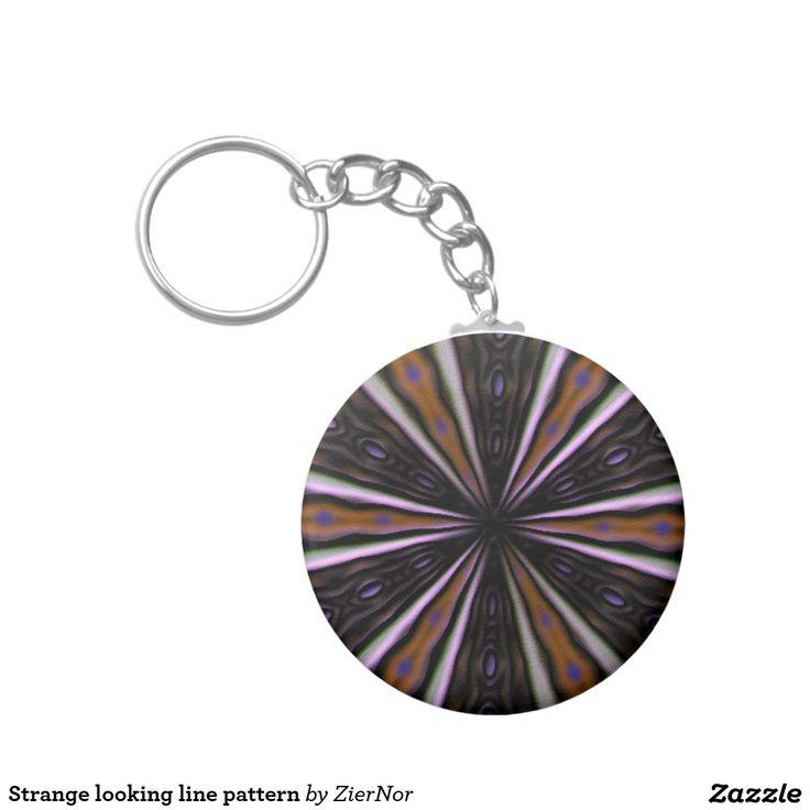 Strange looking line pattern basic round button keychain