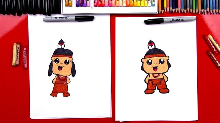 How To Draw A Native American (Girl & Boy)