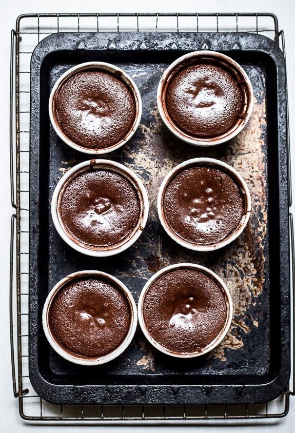 salted caramel molten chocolate cakes