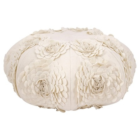 Rose Pouf in Ivory from the Mina Victory event at Joss and Main. For master bedroom.: Girl, Rosa Pouf, Dream Living, Poufs, Design Ideas, Living Room, Master Bedrooms, Furniture, Dream Rooms