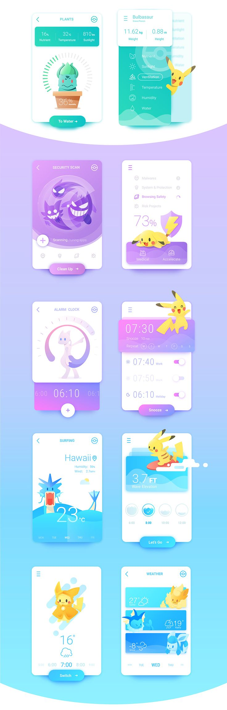 """Some association between Pokemons and Interfaces. Hope you like it bros! Press """"L"""" on your keyboard if you do!"""