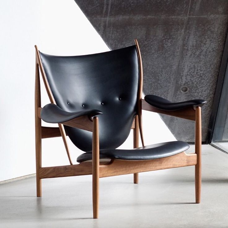 """20cmodern:  """"Finn Juhl's iconic Chieftains Chair from 1949 - here photographed in our Zaha Hadid-extension. Repost from @onecollection_finnjuhl"""" by @ordrupgaard on Instagram http://ift.tt/1jo4NZD"""