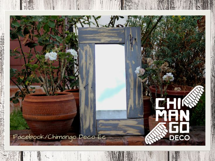 Chimango Deco  #palet #perchero #reutilizar #reciclar #madera #wood #decoracionsostenible #decoracioncreativa #espejo
