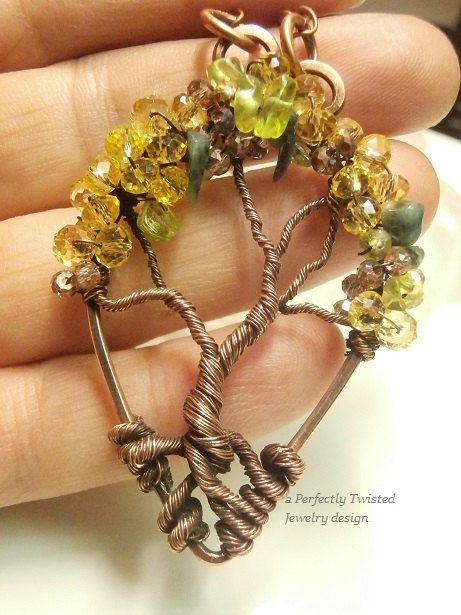 Wire Wrapped Tree of Life Pendant Peridot Emerald Crystal Canopy Beadsu2026 & 2948 best Tree of Life images on Pinterest | Tree of life pendant ...