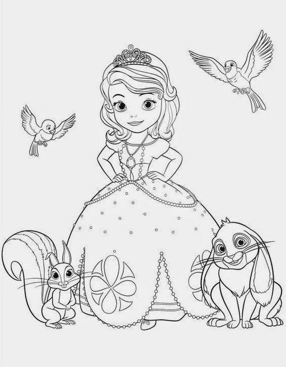 Ausmalbilder Sofia Die Erste Auf Einmal Prinzessin Dibuprincesas