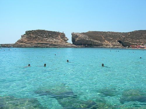 Abkühlung gefällig? Die Blaue Lagune bei Maltas Nachbarinsel Comino