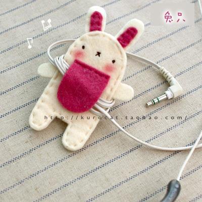 独家新品*超萌动物线圈*卷线器 兔子 不织布材料包-淘宝网