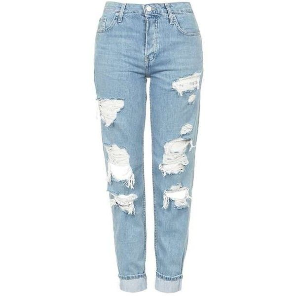 TopShop Moto Super Rip Hayden Jeans ($85) ❤ liked on Polyvore featuring  jeans,