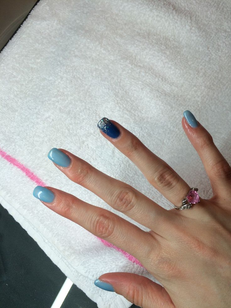 Shellac Winter Nails, Done by Kris!