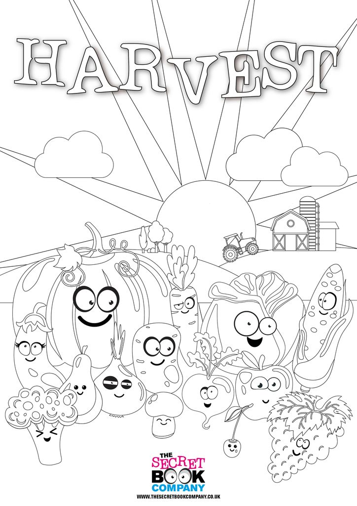 Free Harvest Colouring Poster. This is just adorable, I
