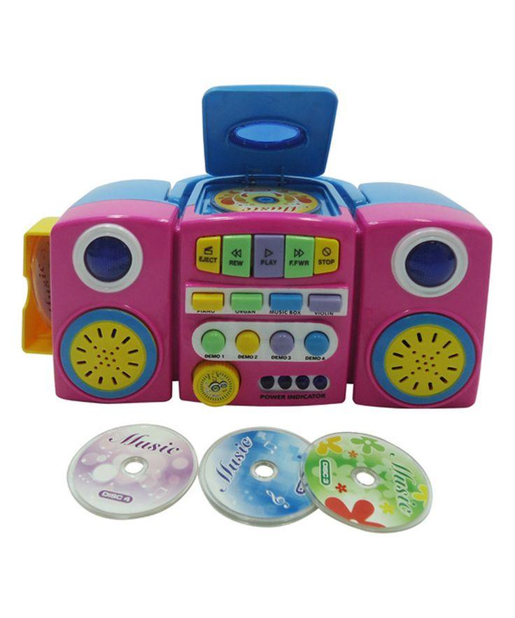 Look at this #zulilyfind! Pink CD Player by Lucky Star #zulilyfinds
