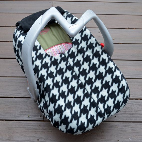NEW Black and Gray Houndstooth Car Seat Cover for by sophiemarie