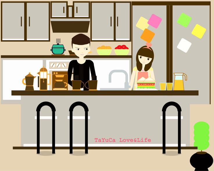 TaYuCa Vector Illustrations — Lovely morning from the kitchen ☕️