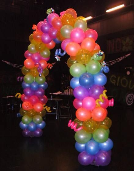 20 best images about balloon arches on pinterest columns for Balloon decoration arches