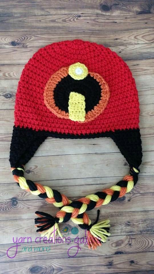 Crochet Incredibles Hat by YarnCreationsGalore on Etsy