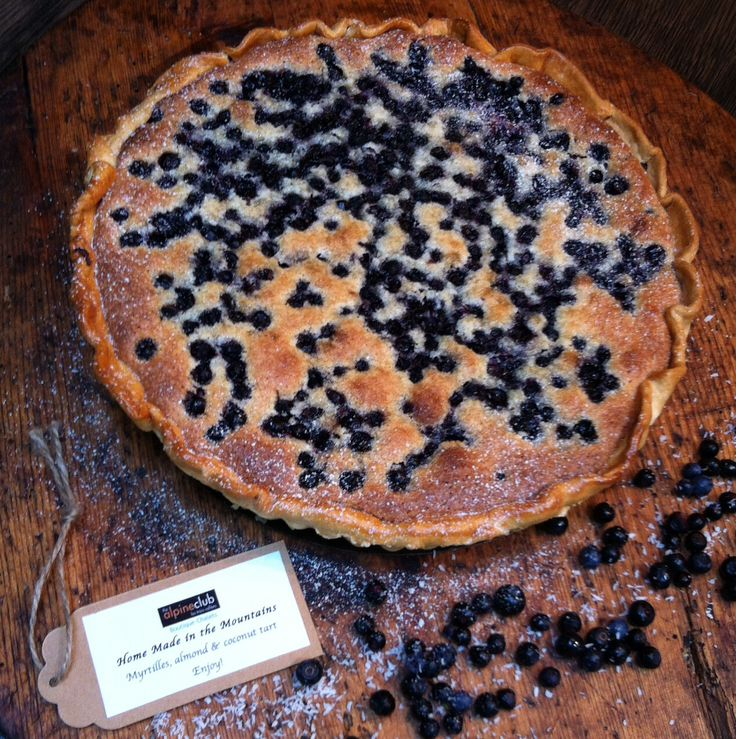 Made in the Mountains - authentic alpine cuisine. Myrtilles & almond tart - Helen Raemers