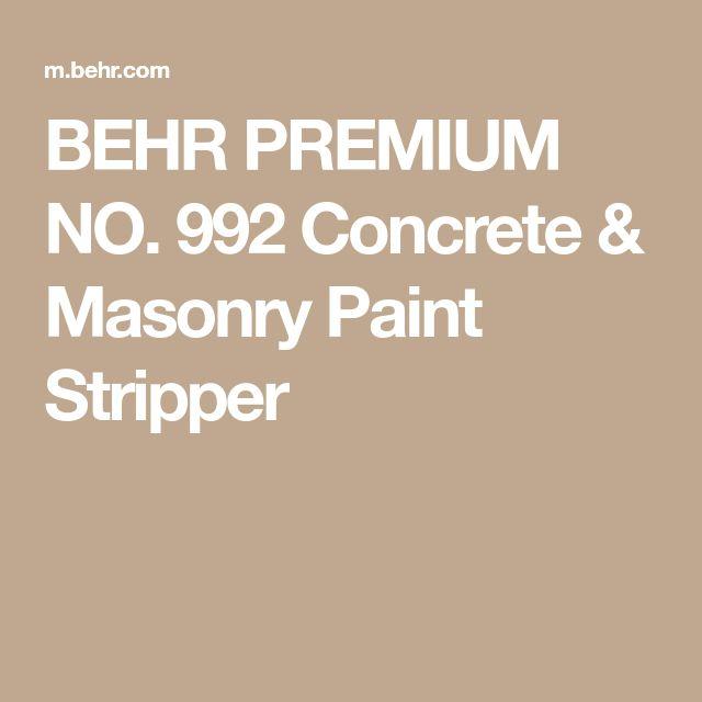 BEHR PREMIUM NO. 992 Concrete & Masonry Paint Stripper