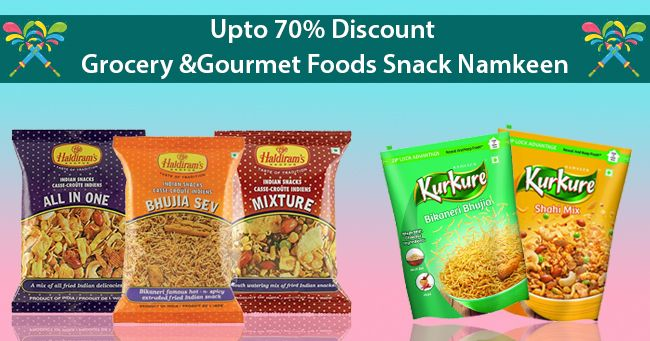 Upto 70% Discount  Grocery & Gourmet Foods Snack Namkeen on March 03 2017. Check details and Buy Online, through PaisaOne.